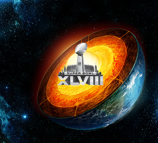 Super Bowl Was Held Yesterday At Earth's Core To Avoid Inclement Weather