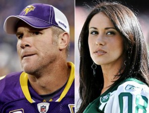 Favre took heat for sending pics to Jenn Sterger, now he's taking it all off.