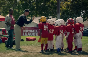 Jim Harbaugh coaching up his future NFL team