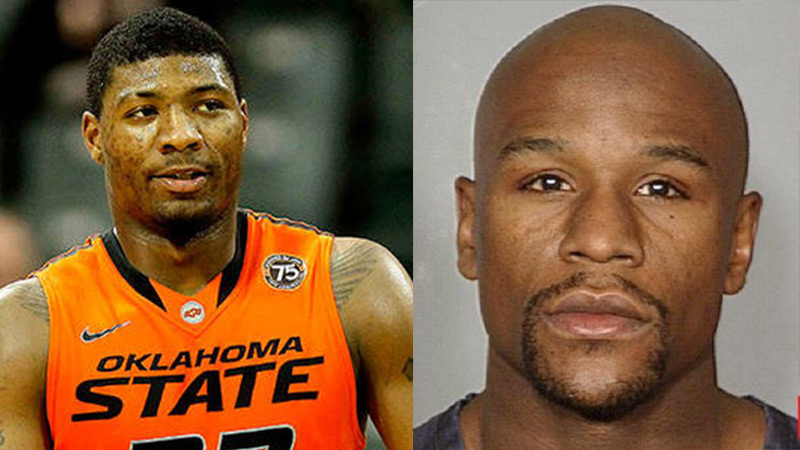 Marcus Smart Starts Fight With Floyd Mayweather In McDonald's Parking Lot