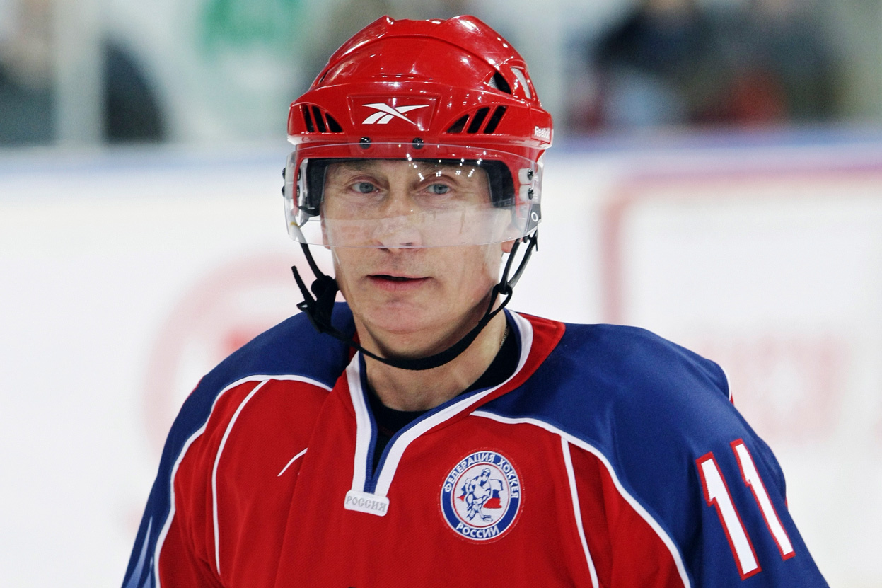 Vladimir Putin Joins Russian Hockey Team To Compete In Winter Olympics