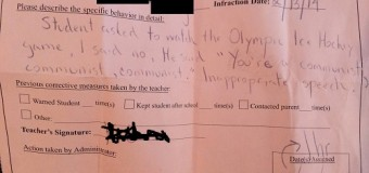 Student Calls Teacher 'Communist' for Not Letting Him Watch USA Hockey