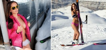 Topless Olympic Skier Jackie Chamoun To Be The Official Face Of The New Thunderbra