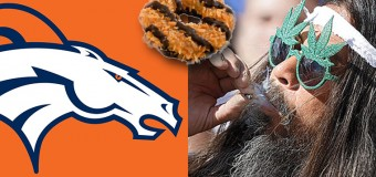 Girlscouts And Denver Broncos Team Up To Sell Cookies Outside Of Marijuana Stores