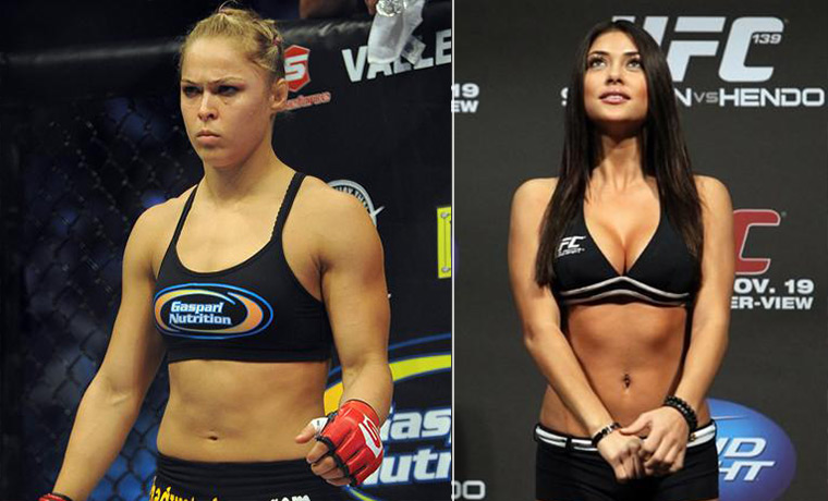 Ronda Rousey Threatens To Give UFC Ring Girl Arianny Celeste Black Eye
