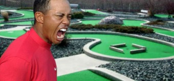 Tiger Woods Breaks Record at Mini Putt Course, Ruins a Child Birthday Party