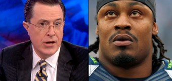 Stephen Colbert Injured In Airport By Marshawn Lynch